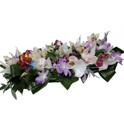 Aranjament corporate din orhidee