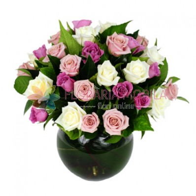 aranjament 29 trandafiri