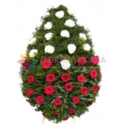 coroana flori din trandafiri
