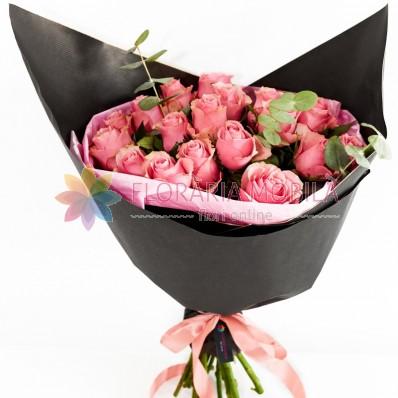 buchete cu trandafiri roz