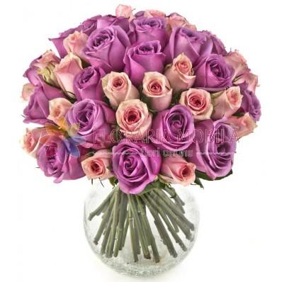 buchet 49 trandafiri