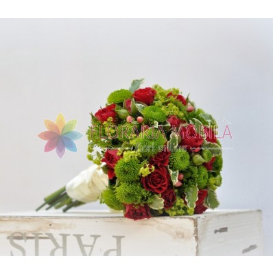 buchete de mireasa ieftine din trandafirasi si santini