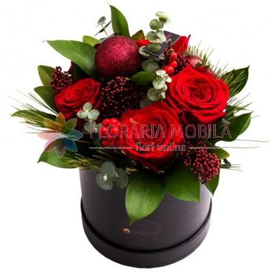 aranjament floral iarna