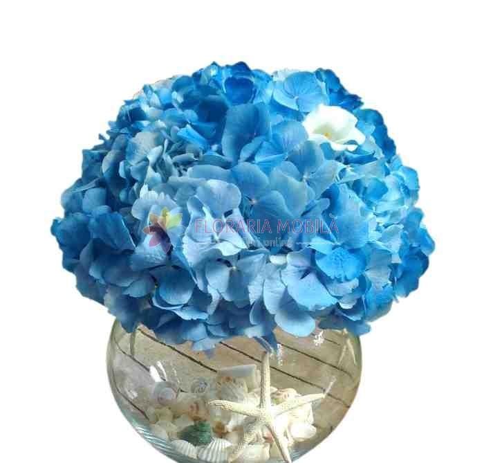 Aranjament Masa Cu Hortensie La 149 Lei Floraria Mobila