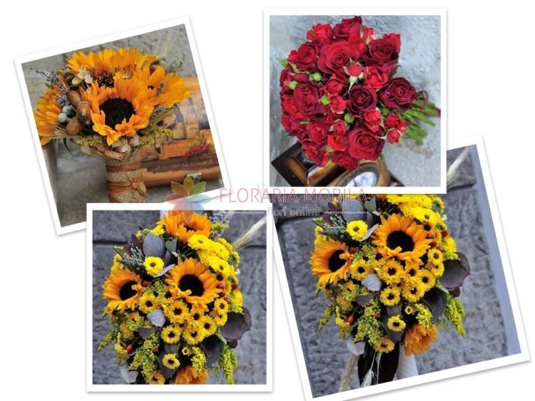 Pachet Nunta Floarea Soarelui La 940 Lei Floraria Mobila
