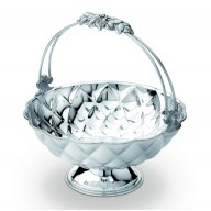 Cos fructe argintat cu maner