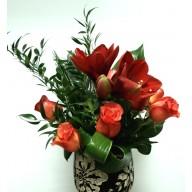 aranjamente flori cu amarilis