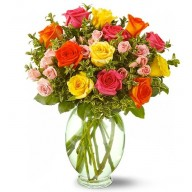 cuhete din trandafiri multicolori