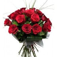 buchet din 23 trandafiri rosii
