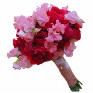 buchete de mireasa din trandafiri david austin si latirus