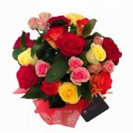buchete din trandafiri multicolori
