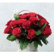 cos cu 25 trandafiri