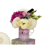 cana cu flori cadou