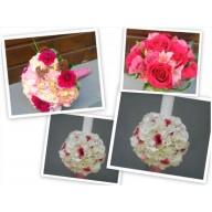 pachet nunta trandafiri, hortensie si lisianthus