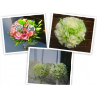pachet nunta trandafiri si lisianthus