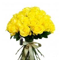 buchet 45 trandafiri galbeni