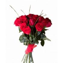 buchet cu 19 trandafiri