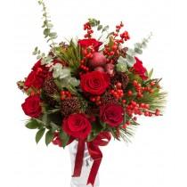 Sparkling Christmas Buchet de flori de iarna