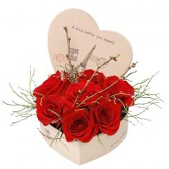inima din trandafiri