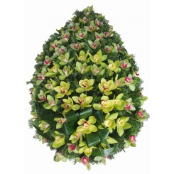 coroana flori din orhidee cymbidium
