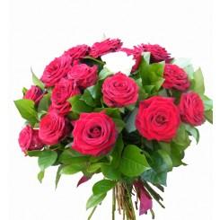 buchet 17 trandafiri rosii