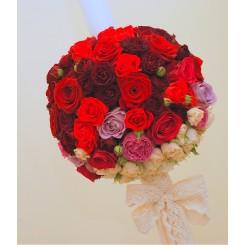 lumanari de nunta cu trandafiri