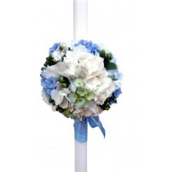 lumanari de nunta cu hypericum verde