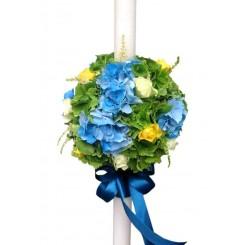 lumanari de nunta colorate