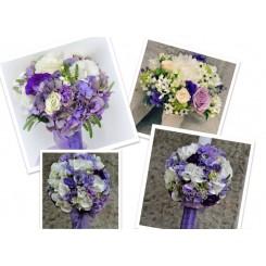 pachet nunta hortensie si lisianthus