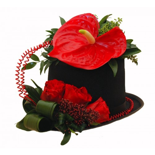 aranjament joben cu trandafiri
