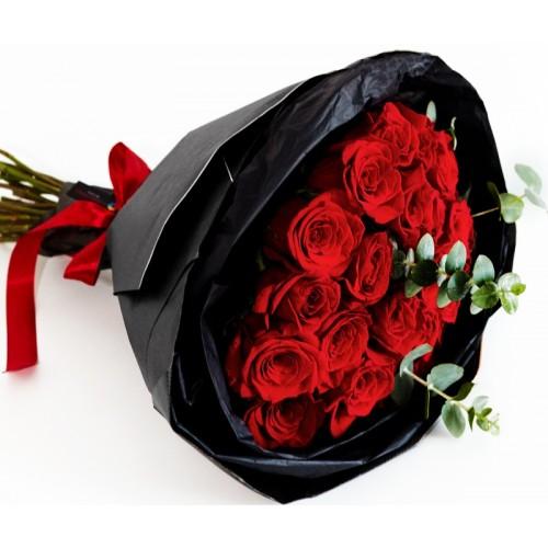 buchete cu 19 trandafiri rosii