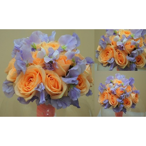 buchete nasa cu trandafiri si latirus