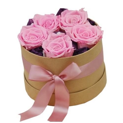 trandafiri roz criogenati