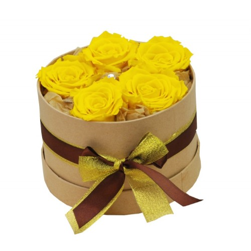 trandafiri galbeni criogenati