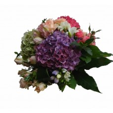 buchet hortensie, trandafiri si frezii