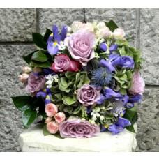 buchet hortensie, tros si iris