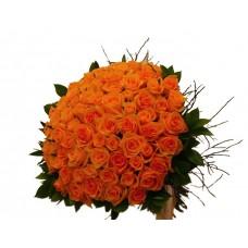 buchet 101 trandafiri portocalii