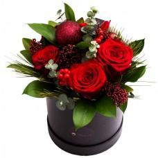 Passion Roses aranjament de flori de iarna