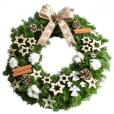 White Christmas coronita craciun