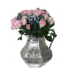 Trandafiri in Carafa argintata Chinelli