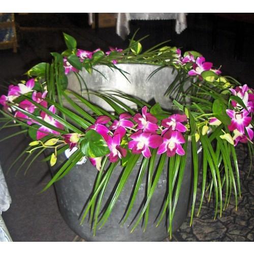 aranjament cristelnita cu orhidee
