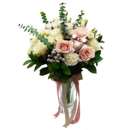 Pink Champagne Buchet de flori de iarna